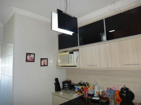 Apartamento Com 3 Dormitórios À Venda, 74 M² Por R$ 370.000 - Condomínio Residencial Aspen - Sorocaba/sp - Ap0105