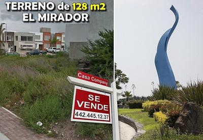 Se Vende Terreno De 128 M2 En El Mirador, Libre De Gravamen, Plano, Ganelo !!