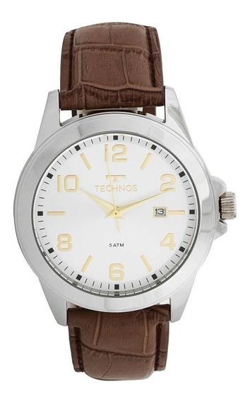 Relógio Technos Masculino 2115mlb/0p Aço Couro Marrom