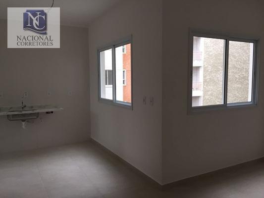 Apartamento Com 1 Dormitório À Venda, 39 M² Por R$ 210.000,00 - Bangu - Santo André/sp - Ap5366