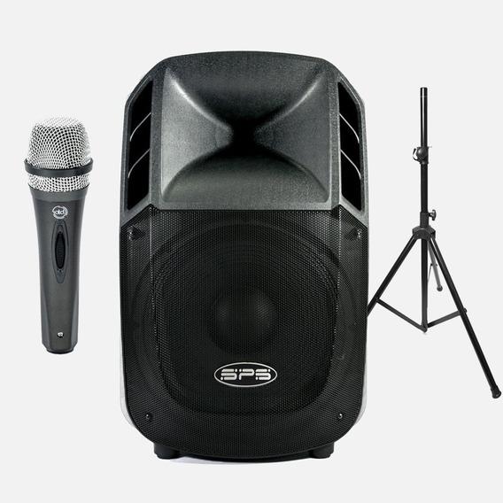 Combo Corneta Amplificada Sps 15 Pulgada 800w Bluetooth 299$