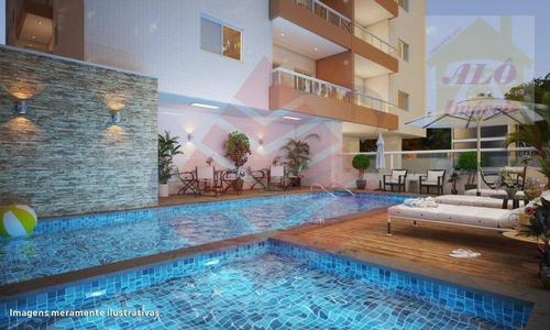 Apartamento Com 2 Dormitórios À Venda, 58 M² Por R$ 261.270,00 - Vila Guilhermina - Praia Grande/sp - Ap3101