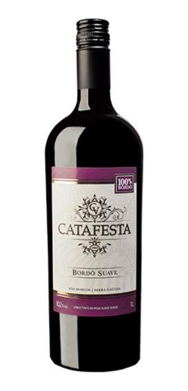 Vinho Tinto De Mesa Suave Bordo Catafesta 1l