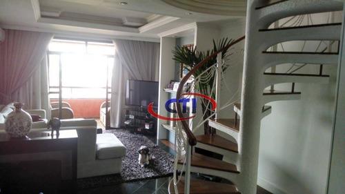 Imagem 1 de 23 de Cobertura Com 4 Dormitórios À Venda, 310 M² Por R$ 1.500.000,00 - Nova Petrópolis - São Bernardo Do Campo/sp - Co0103