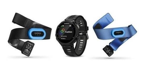 Garmin - Forerunner 735xt Smartwatch Tri-bundle - Negro / Gr