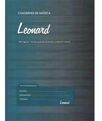 Cuaderno Pentagramado Leonard 50 Hojas Espiralado