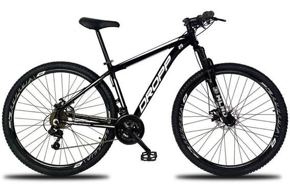 Bicicleta Aro 29 Quadro 17 Freio A Disco 21v Preto Branco