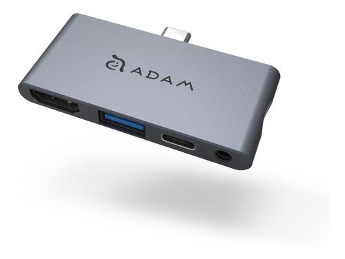Imagen 1 de 5 de Adam Elements Hub I4 Adaptador Usb-c Multipuerto iPad Pro