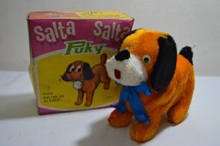 Retro Antiguo Perro Saltarin A Cuerda Puky ( Argentina ) Nvo