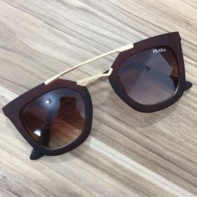 ec2d1805d Oculos Marrom Feminino Grande De Sol - Óculos no Mercado Livre Brasil