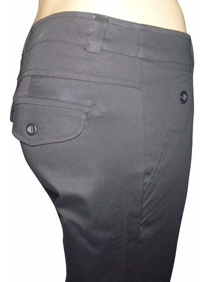 Pantalon De Mujer, Del Talle 1 Al 7 , Gabardina Elastizada