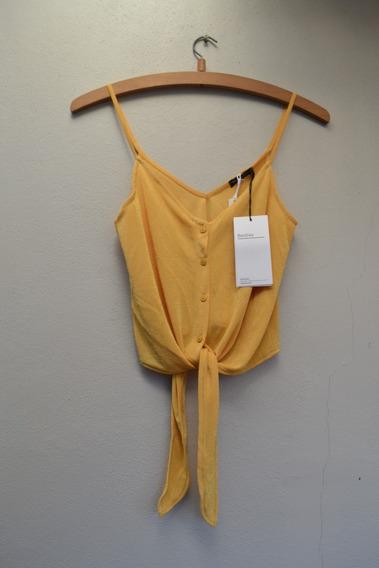 Musculosa Amarilla - Bershka - Talle Xs (nueva Con Etiqueta)