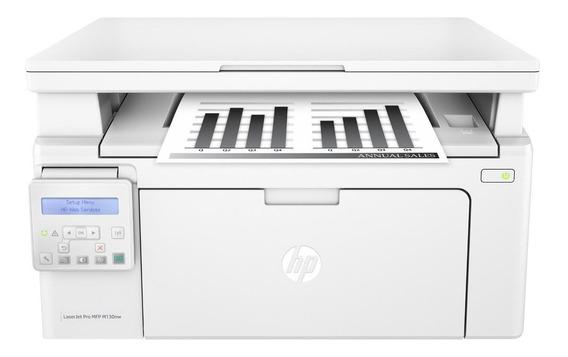 Impressora multifuncional HP LaserJet Pro M130NW com Wi-Fi 110V branca