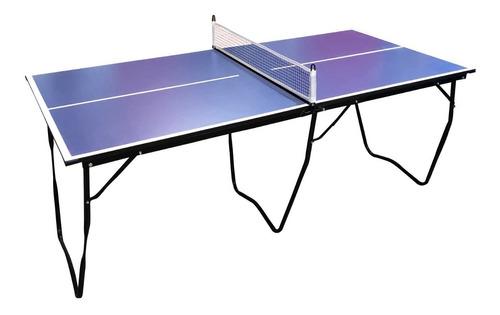 Mini Mesa De Ping Pong Plegable Con Red 182 X 90 En Caja