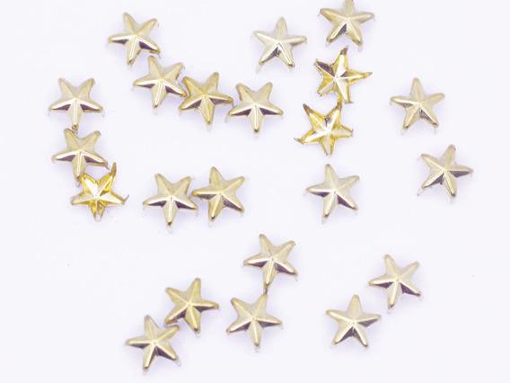 Estoperol 8mm Dorados Tipo Estrella Por 1 Millar