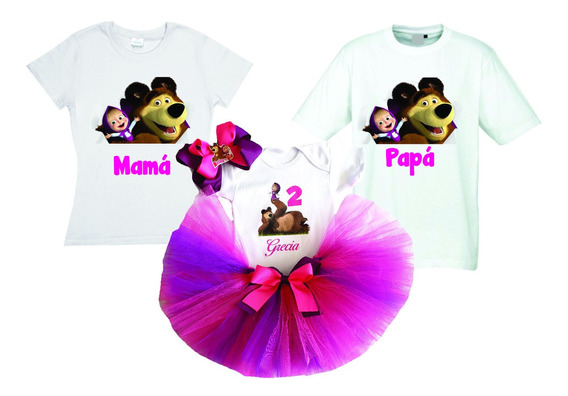 Conjunto De Tutú Y Playeras Princesas Masha Mimi Personajes