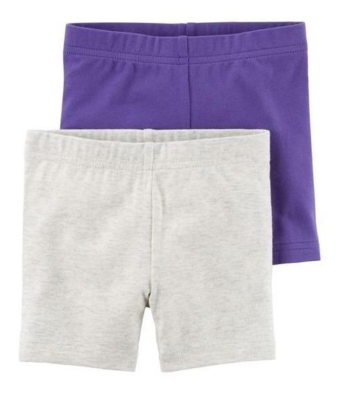 Set 2 Shorts Elastizados Niñas Talle 5 Años Carters