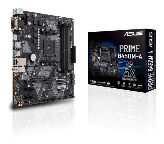 Placa Mãe Asus Amd Prime B450m A Am4 Ddr4 Atualizada R 3000