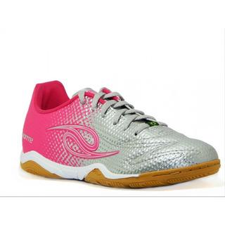 Tênis Futsal Dalponte Flash 2 Indoor Feminino - Pink/prata