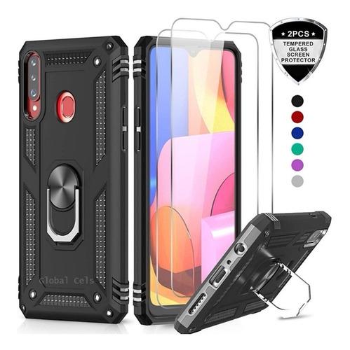 Case Protector Galaxy A20s A10s A10e A50 C/ Vidrio Templado