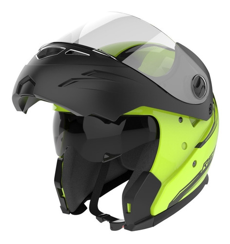 Casco Rebatible C Lentes Moto Hawk Rs5 Vector Solomototeam