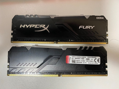 Hyperx Fury 32gb (2x16) Ddr4-2400 Hx424c15fb3ak2/32