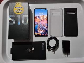 Samsung S10 Negro En Garantía - Impecable 128gb 8gb Ram