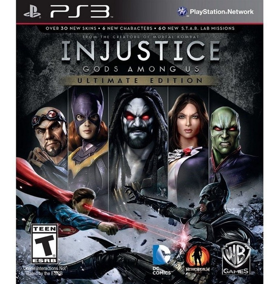 Game Play3 - Injustice Ultimate Edition - Semi-novo Jogo Ps3