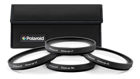 Kit Filtros Lentes Close Up +1+2+4+10 58mm Polaroid