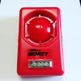 Sirene De Parede Morey Strob-l Vermelha12v
