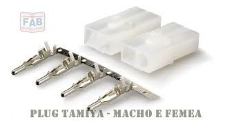 Conector Plug Tamiya Macho Femea Automodelo Hsp Kyosho Imax