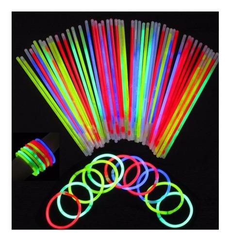 Pulseras Fluor X400 Luminosas Cotillon Colores Flúo Neon