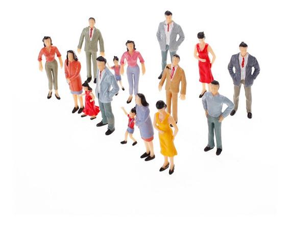 100 Pcs 1 : 150 Miniatura Humano Figuras Pessoas Modelo Ferr