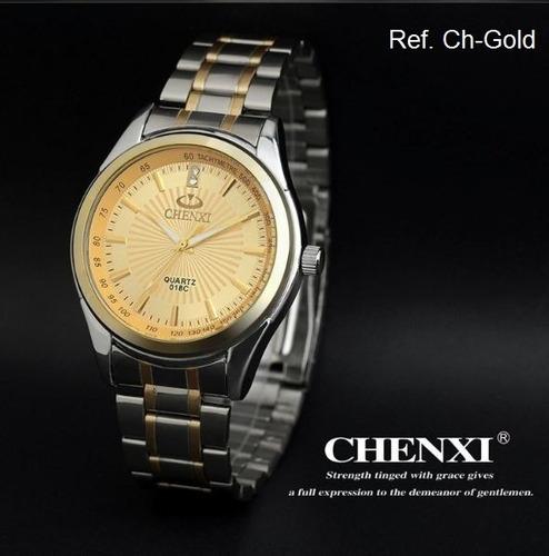 Relógio Masculino Chenxi Pulseira Aço Inox Prova D'água 30m