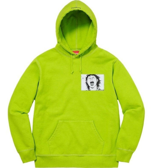 Supreme Akira Patches Hooded Sweatshirt Lime
