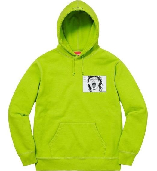 Supreme Akira Patches Hooded Sweatshirt Lime Box Logo