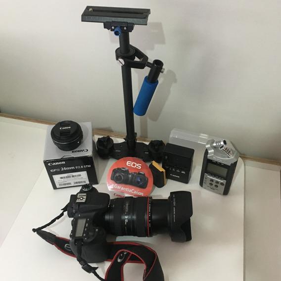 Câmera Canon 70d+ef24-105mm E Vários Acessórios - Videomaker