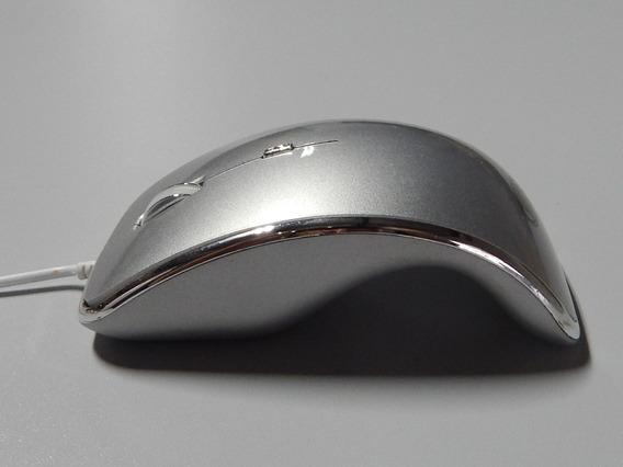 Mouse Óptico Usb De Alta Precisão Ergonômico Cinza Escuro