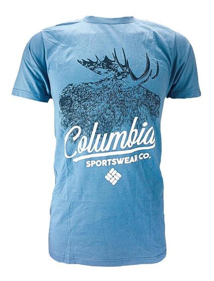 Playera Columbia M Infallible S/s Venado Azul