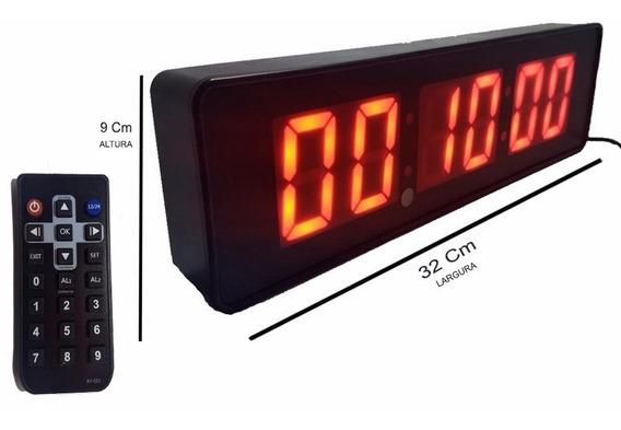 Cronometro Relogio Parede Digital Painel Led Academia P