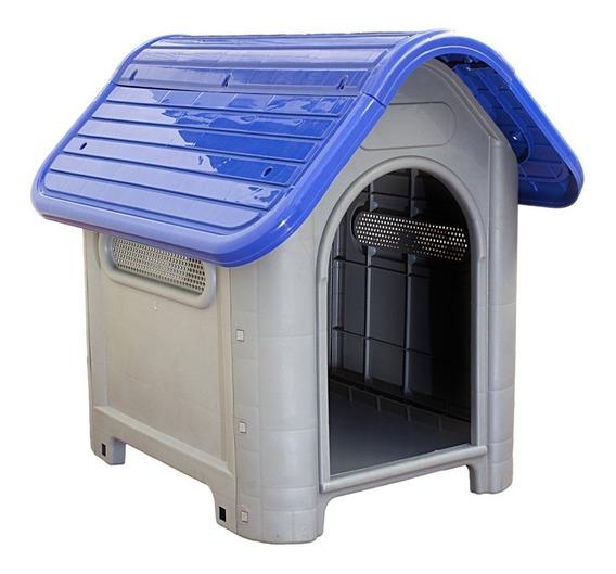 Casinha Plástica Para Cachorro Dog Home Número 3 Azul