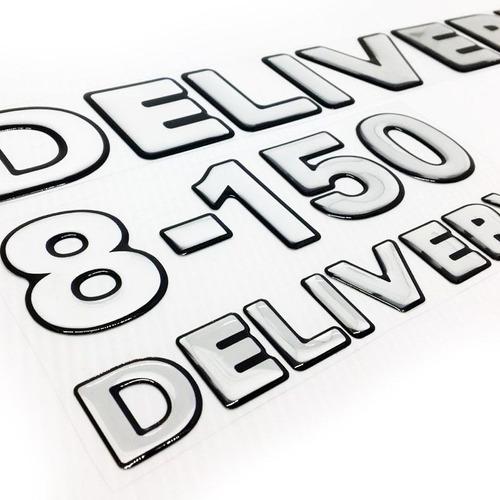 Imagem 1 de 5 de Emblemas 8-150 Delivery Volkswagen Adesivo Caminhão Cromado