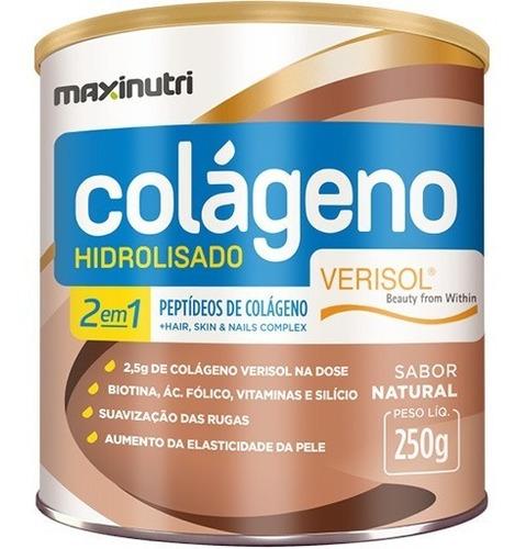 Colágeno Hidrolisado 2 Em 1 Verisol Natural 250g - Maxinutri