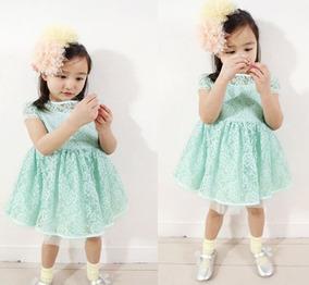 3786e6a7fe Vestido Para Nina Verde Jade - Vestidos Niñas en Mercado Libre Perú
