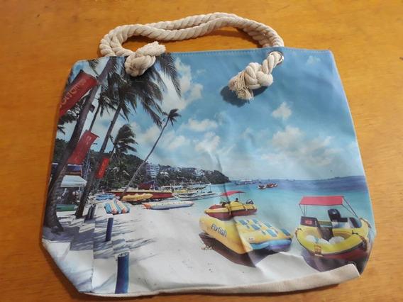 Bolsa Feminina Moda Praia Visão Do Mar