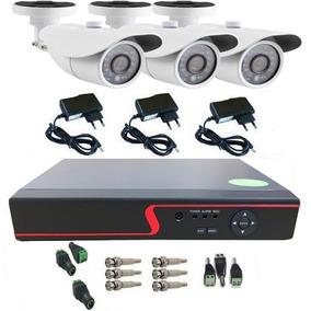 Kit Cftv 3 Câmeras Infra Ahd 1.3 Mp 720p Dvr Acesso Remoto