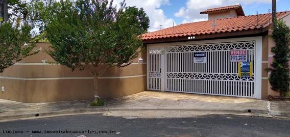Casa Para Venda Em São Carlos, Parque Dos Timburis, 2 Dormitórios, 1 Suíte, 3 Banheiros, 3 Vagas - Lc359_1-1374870