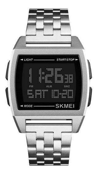 Relógio Masculino Quadrado Original Skmei Barato + Nf 122