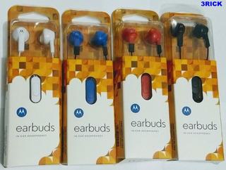 5 Fone De Ouvido Motorola Earbuds Headphones Atacado