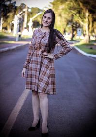Vestido Feminino Midi Casual Pikuxa Moda Evangélica
